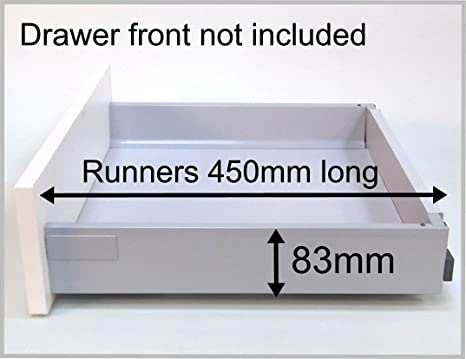 Blum Soft Close Replacement Kitchen Drawer Box Shallow Complete Kit Including Runners From 39 00 10 For 600 Wide Base With 18mm Thick Sides