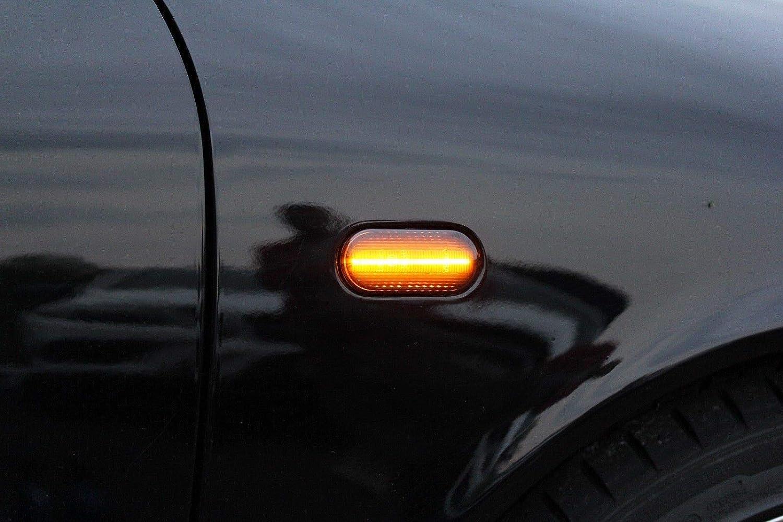 Dynamische Sequentielle Led Seitenblinker Blinker Laufeffekt Smoke Dunkel 0611lg Auto