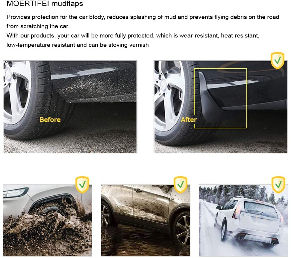 MOERTIFEI Car Mudguard Fender Mud Flaps Splash Guards Compatible with Acura MDX 2014-2020 15 16 17 18 19