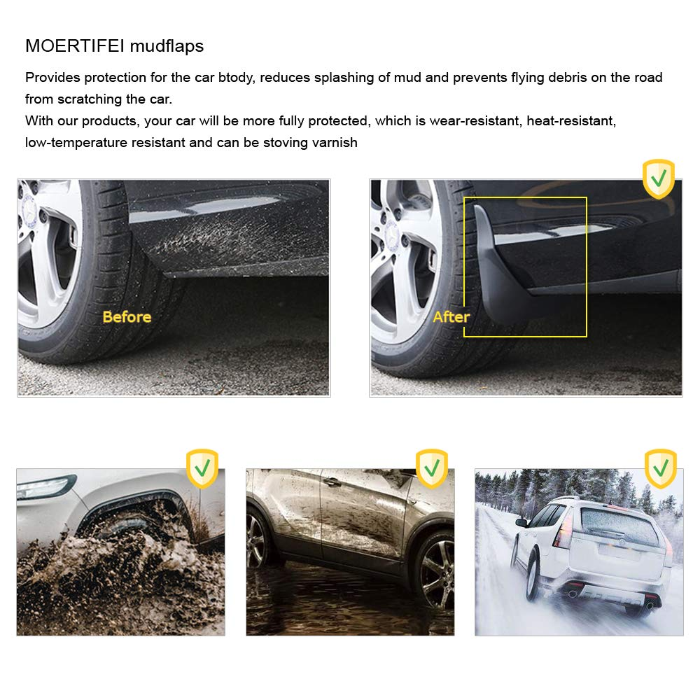 MOERTIFEI Car Mudguard Fender Mud Flaps Splash Guards Kit fit for Alfa Romeo Stelvio 2018 2019