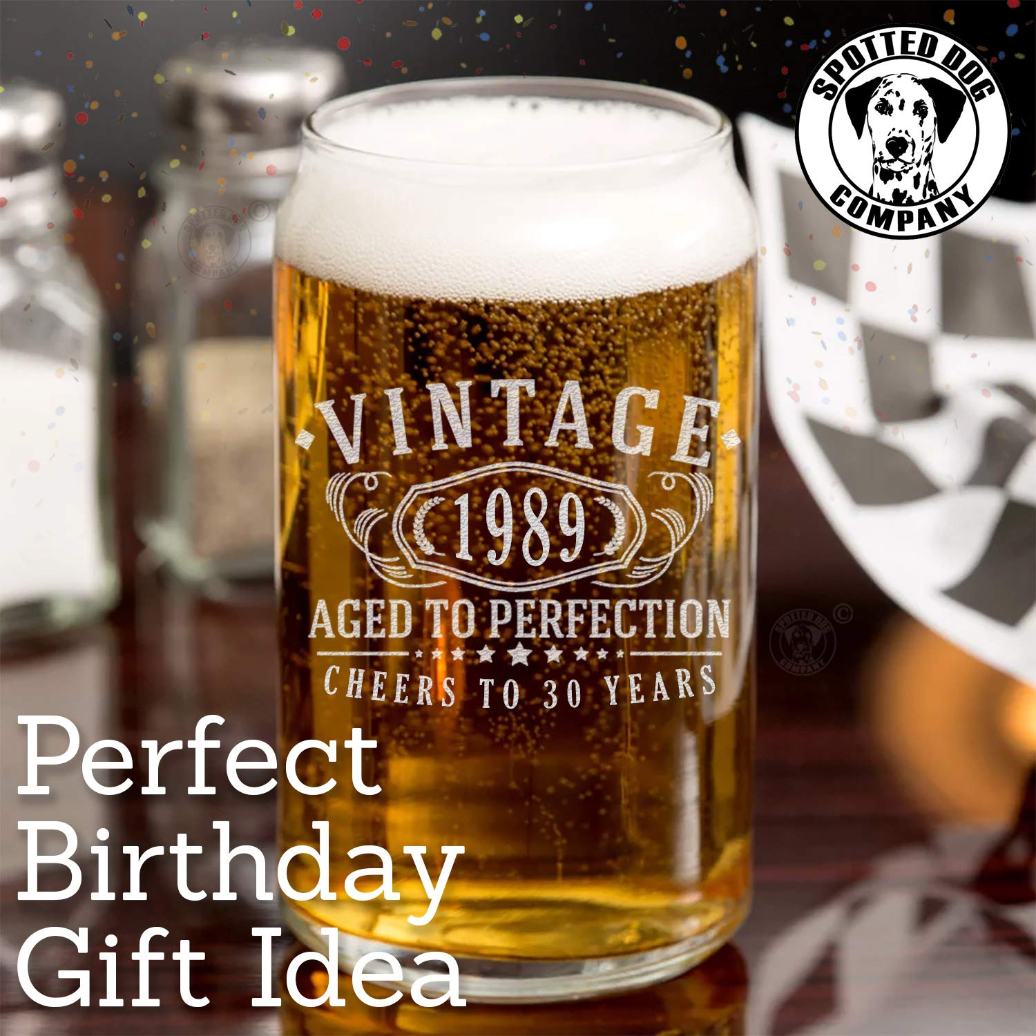 18th Birthday Etched 16oz Beer Can Glass Vintage 2001 Aged to Perfection 18 Years Old Gifts