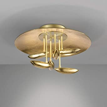 Honsel Pau 20399 - Lámpara de techo LED, color dorado, con ...