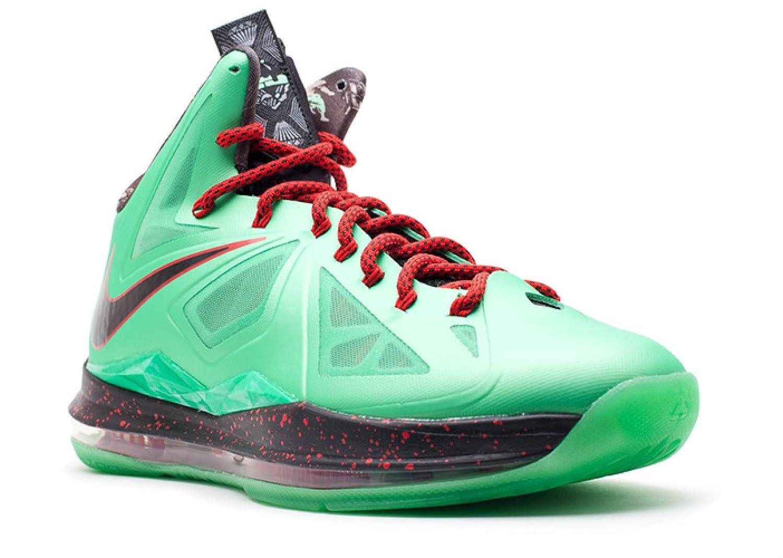 big sale b570d 95e4e Amazon.com | Nike Lebron X China Jade Men's Basketball Shoes Green/Black/Red  | Basketball