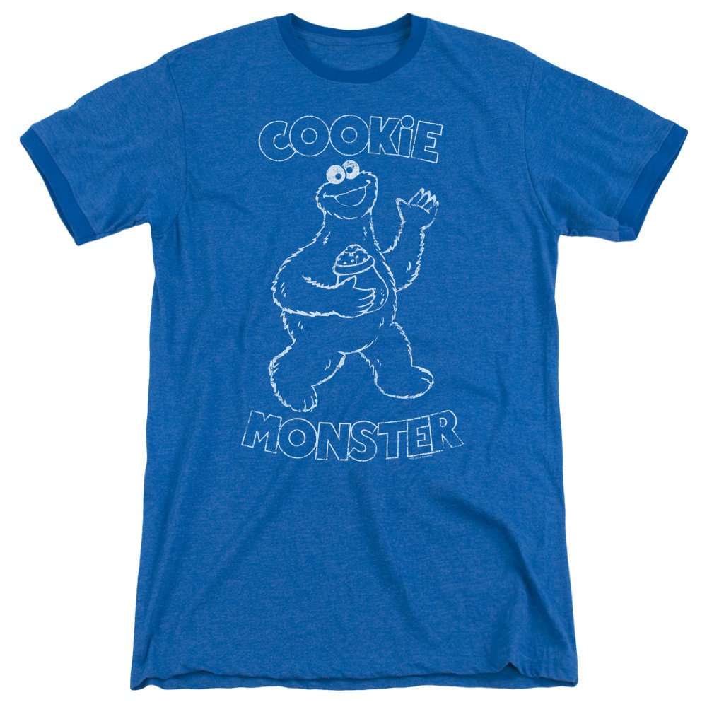 Sesame Street Shirt Simple Cookie Adult Ringer T