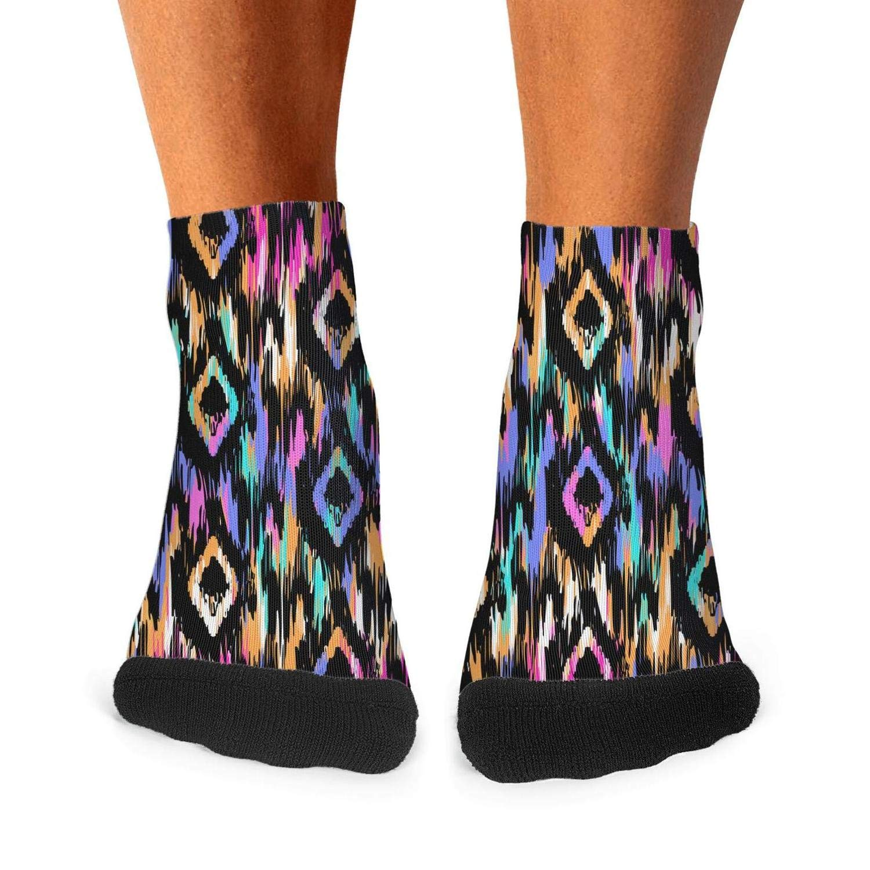 Mens Athletic Low Cut Ankle Sock Boho Colorful Short Casual Sock