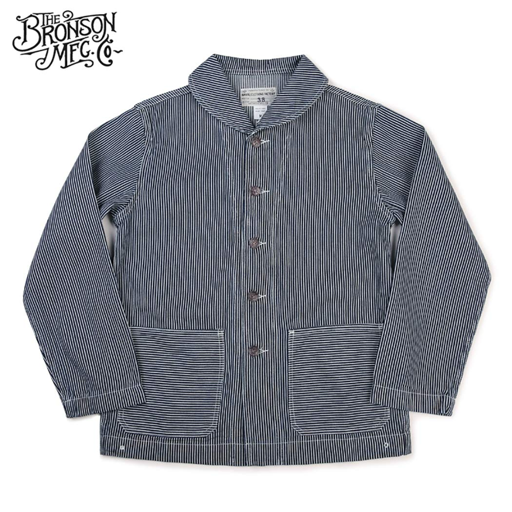 1920s Style Mens Shirts | Peaky Blinders Shirts and Collars Bronson USN Navy 1920S Model Dungaree Jumper Deck Work Denim Overall Coat Jacket $89.99 AT vintagedancer.com