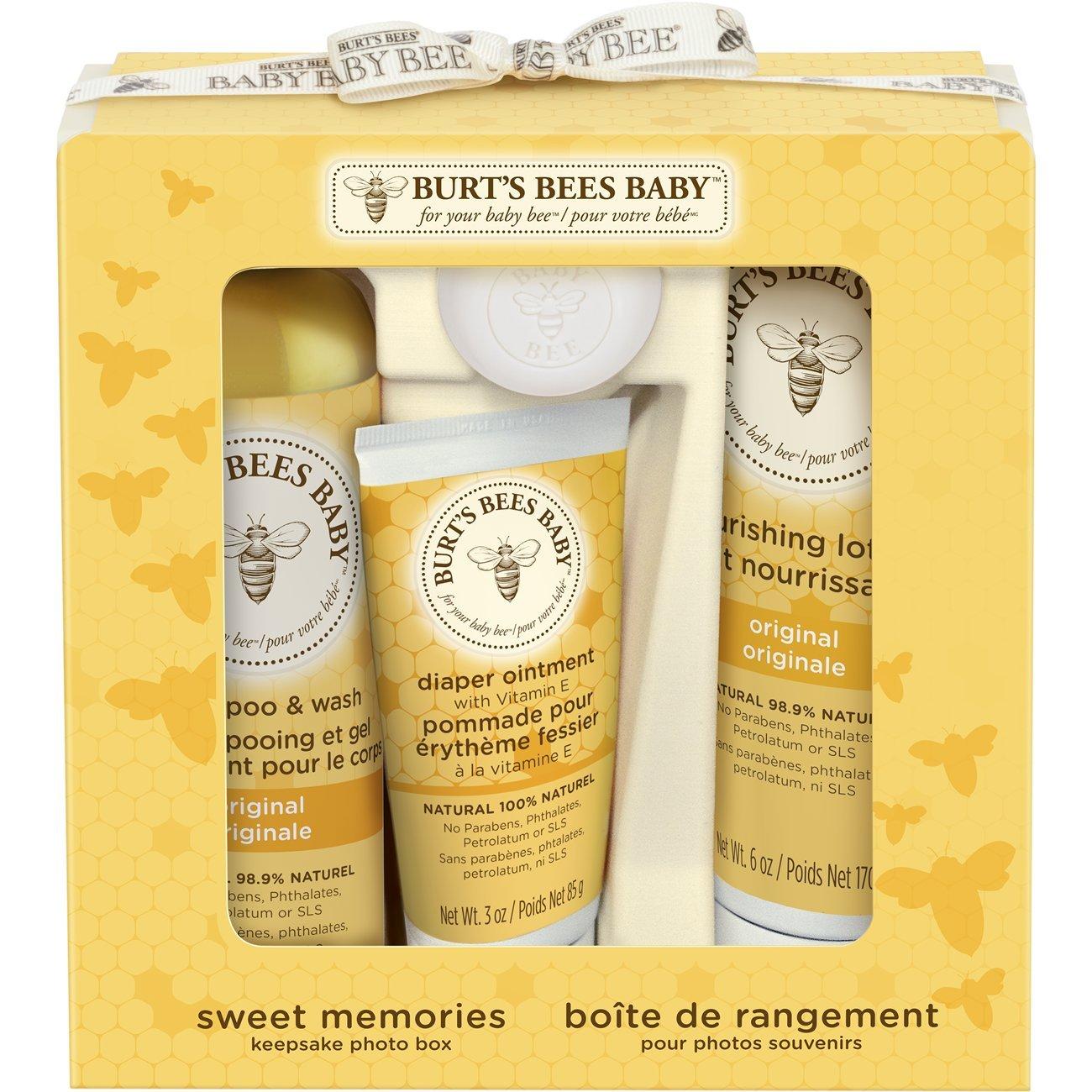 Burt's Bees Baby Bee Sweet Memories Gift Set with Keepsake Photo Box by Burt's Bees CBee Europe Ltd 89249-14