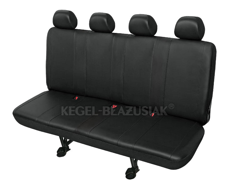 ZentimeX Z736995 Sitzbez/üge Viererbank Kunstleder schwarz