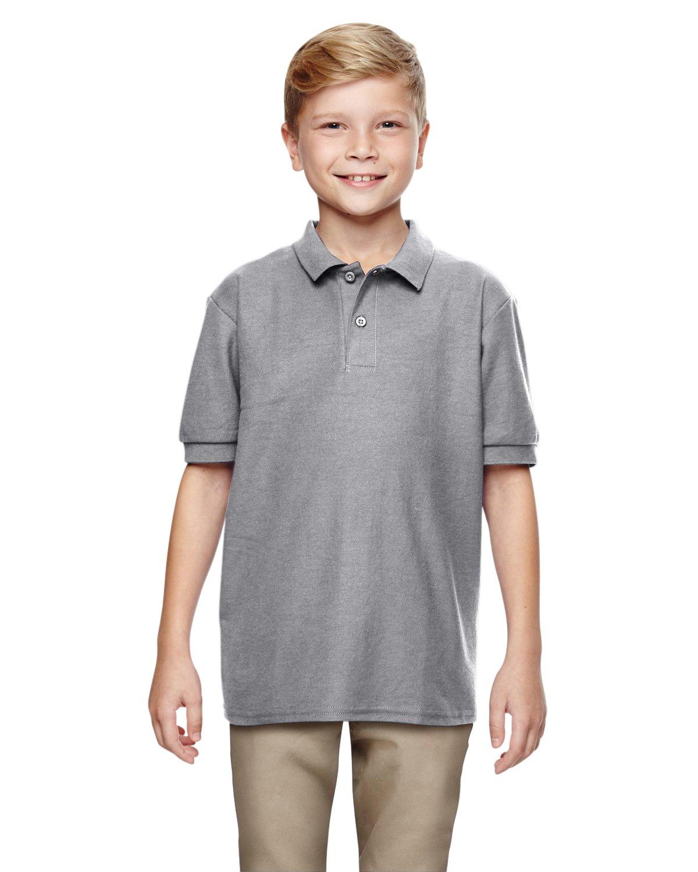 Gildan Boys DryBlend 6.3 oz. Double Piqué Sport Shirt (G728B) -Sport Grey -M-12PK by Gildan (Image #1)