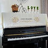 北欧 高級 ピアノカバー 花刺繍 ハリネズミ 人気 可愛い ピアノトップカバー アップライト インテリア 静電気防止 プレゼント トップカバー 防塵カバー 灰つけない 三色
