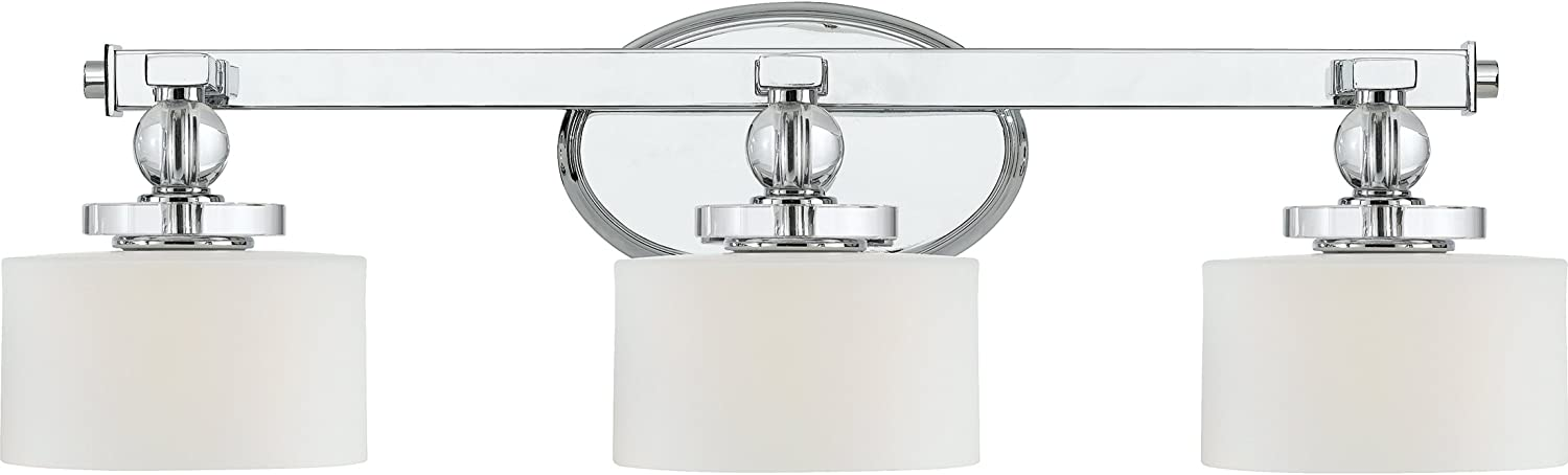 Quoizel DW8603C Three Bath Fixture Vanity Lighting, Polished Chrome