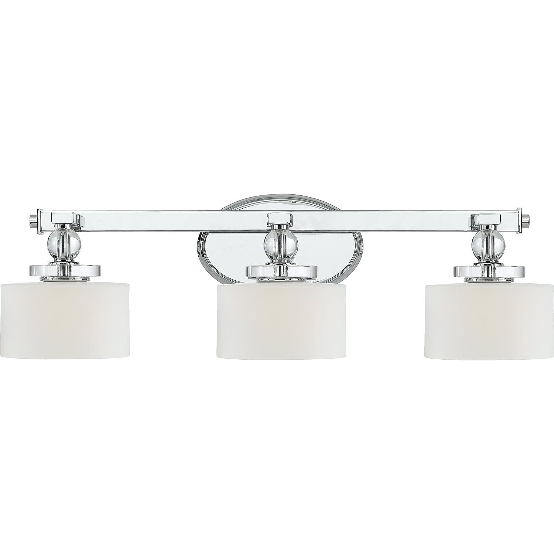 Quoizel DW8603C Three Bath Fixture Vanity Lighting, Polished Chrome
