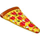 U.S. Pool Supply Giant 6 Feet Inflatable Supreme Pizza Slice Pool Float - Fun Kids Swim Party Toy - Huge Summer Pool Lounge Raft