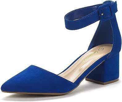 DREAM PAIRS Women's Annee Low Heel Pump Shoes