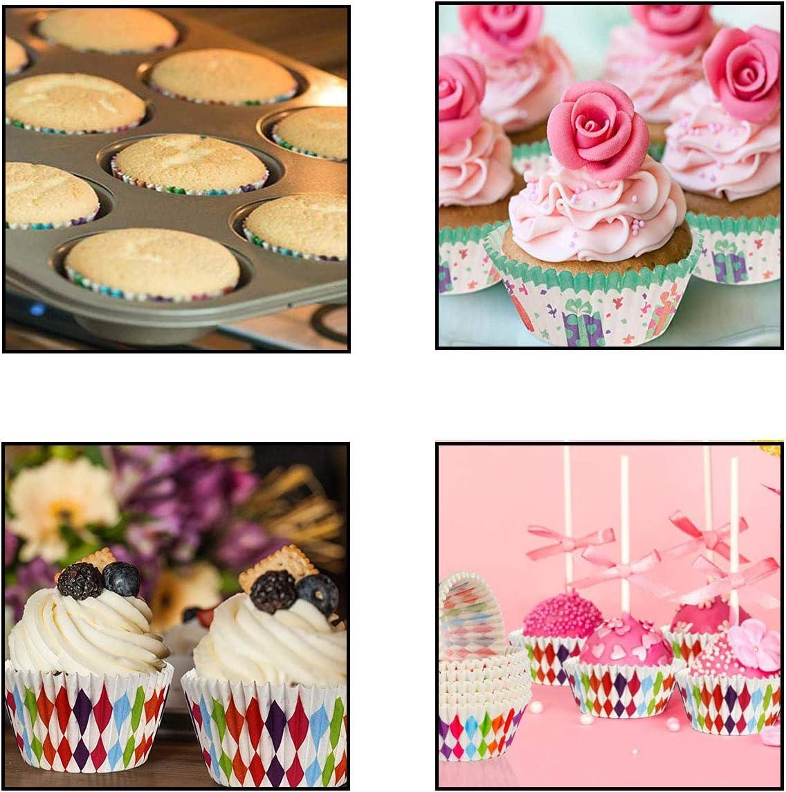 Osuter 500 Pi/èces Caissettes Cupcake en Papier Moulle /à Muffin pour Chocolat Mariage Cuisine Baking Dessert D/écoration Bricolage