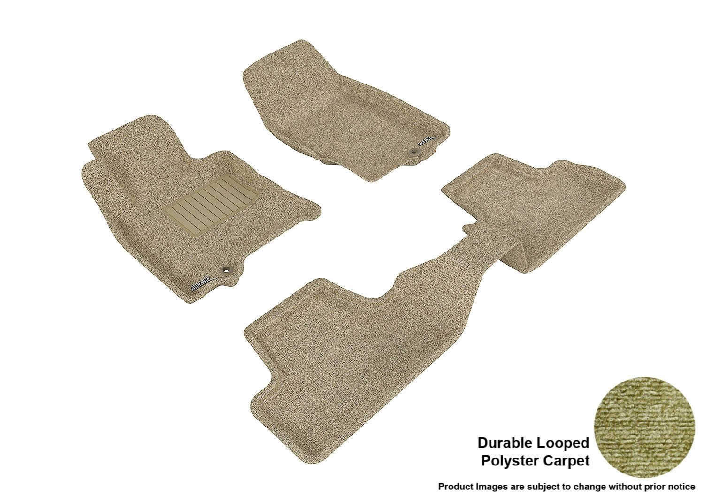 Gray 3D MAXpider Second Row Custom Fit Floor Mat for Select Infiniti EX35 Models Classic Carpet L1IN00422201
