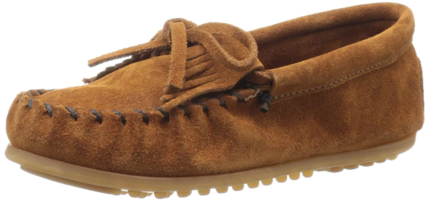 Minnetonka Kilty Suede Moc (Toddler/Little Kid/Big Kid) CHILD KILTY SUEDE MOC - K