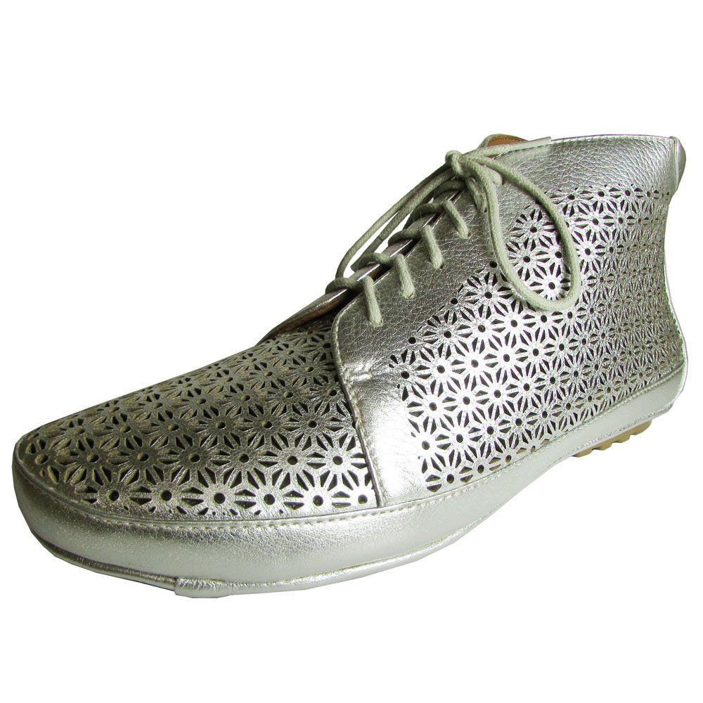 Gentle Souls Women's Sole Cute Silver Metallic Lamba Boot 8 M