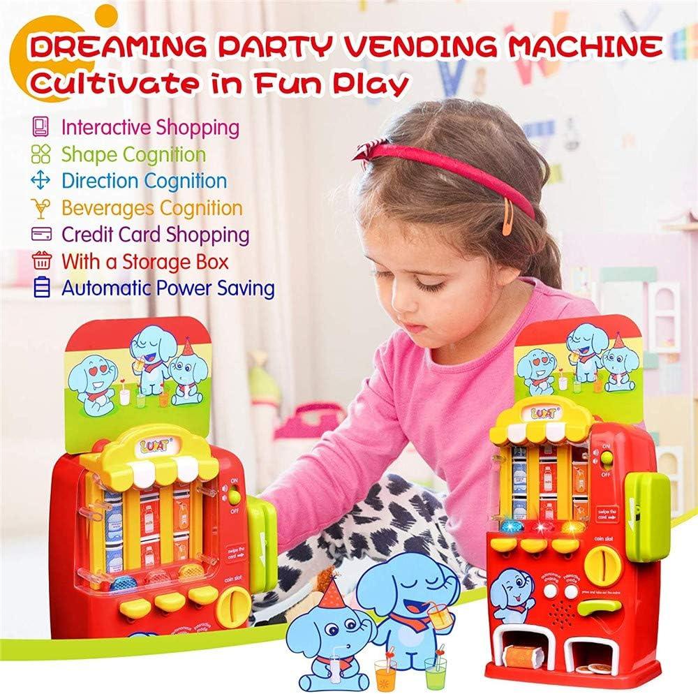 N\A Juguetes para Máquinas Expendedoras Juguetes para Máquinas De Bebidas Juguete De Simulación con Luz Y Sonido, para Niños, Niños, Juguetes Educativos para Niños A