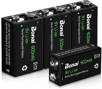 Bonai Battery 9 V Block 600 Mah Li Ion Rechargeable Elektronik