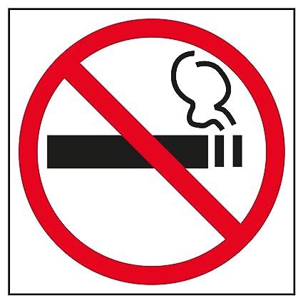 APLI 845 - Cartel adhesivo Prohibido fumar (114 x 114 mm)