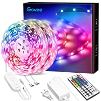 65.6ft LED Strip Lights, Govee Ultra-Long Color Changing Light Strip with Remote, 600LEDs Bright RGB LED Lights, DIY Color Options Tape Lights with ETL Listed Adapter for Bedroom Ceiling Under Cabinet