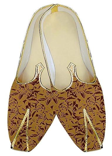Mens Rust Wedding Shoes Printed MJ015284