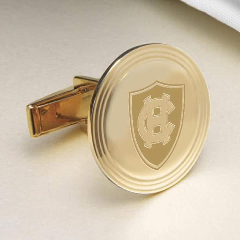 M LA HART Holy Cross 18K Gold Cufflinks