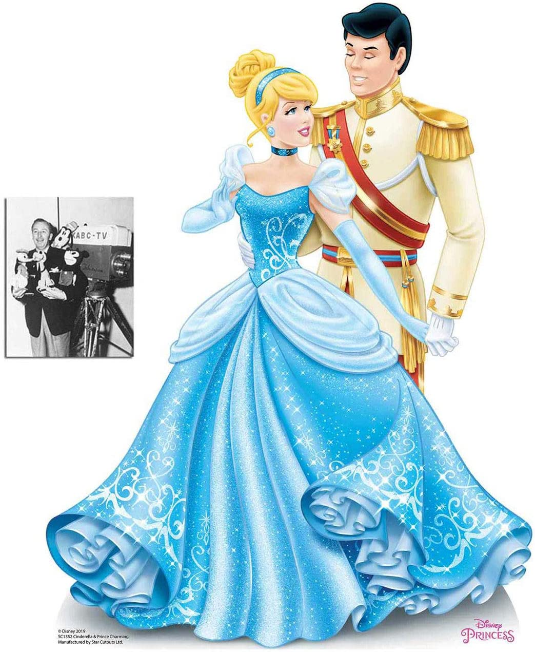 Amazon Com Official Princess Cinderella And Prince Charming Mini Cardboard Cutout Standup 79cm X 60cm And 8x10 Photo Home Kitchen