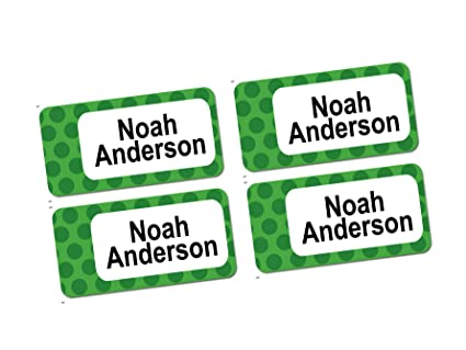 e28787760b15 60 Clothing Tag Labels, Stick On Laundry Labels, Personalized with Your  Name (polkadotgreen Design)