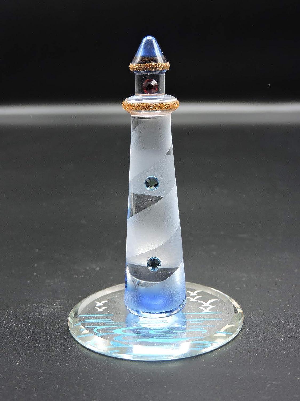 Handmade Blown Glass Lighthouse