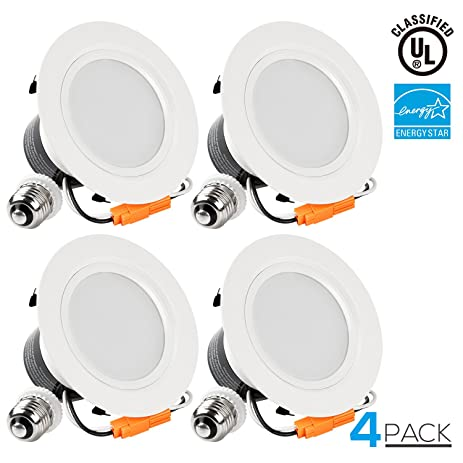 torchstar 4 inch dimmable recessed led downlight 12w 85w