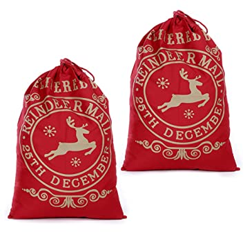Weihnachtsgeschenke Sack.Weihnachtsmann Sack 2 Stück Weihnachtssack Nikolaussack