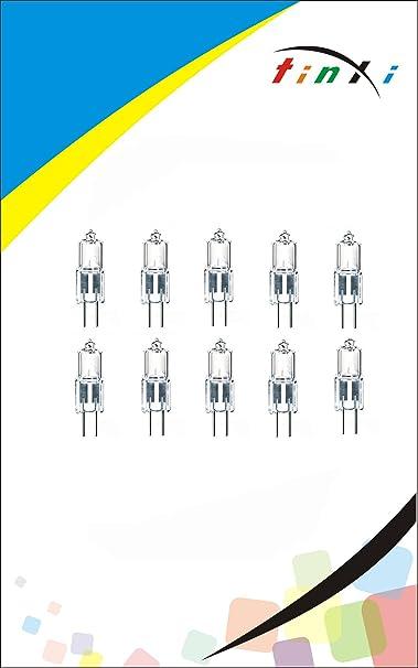 blanco c/álido de 10 vatios 12V 24V 36V tinxi/® L/ámpara de la bombilla hal/ógena G4 10x luz blanco c/álido l/ámpara de la c/ápsula