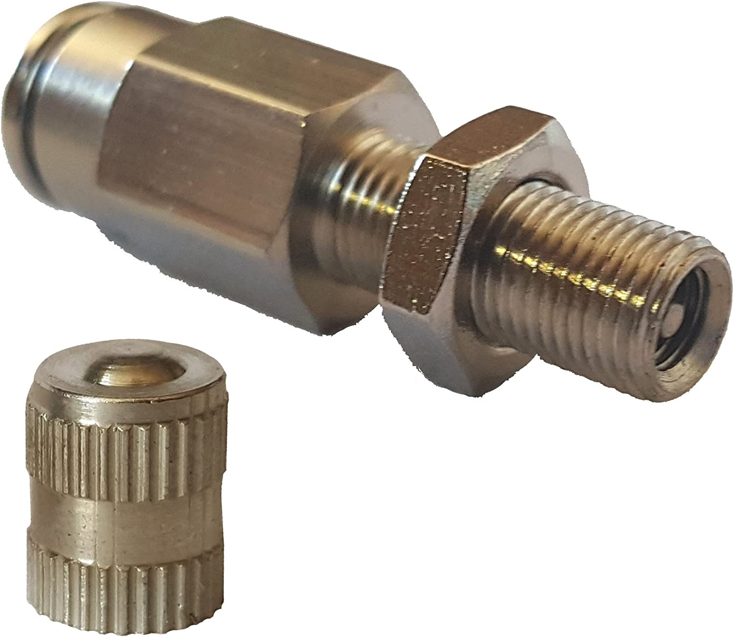 """1//8/"""" npt to 1//4/"""" ptc Front of air Compressor fitting for My Air ride kit"""