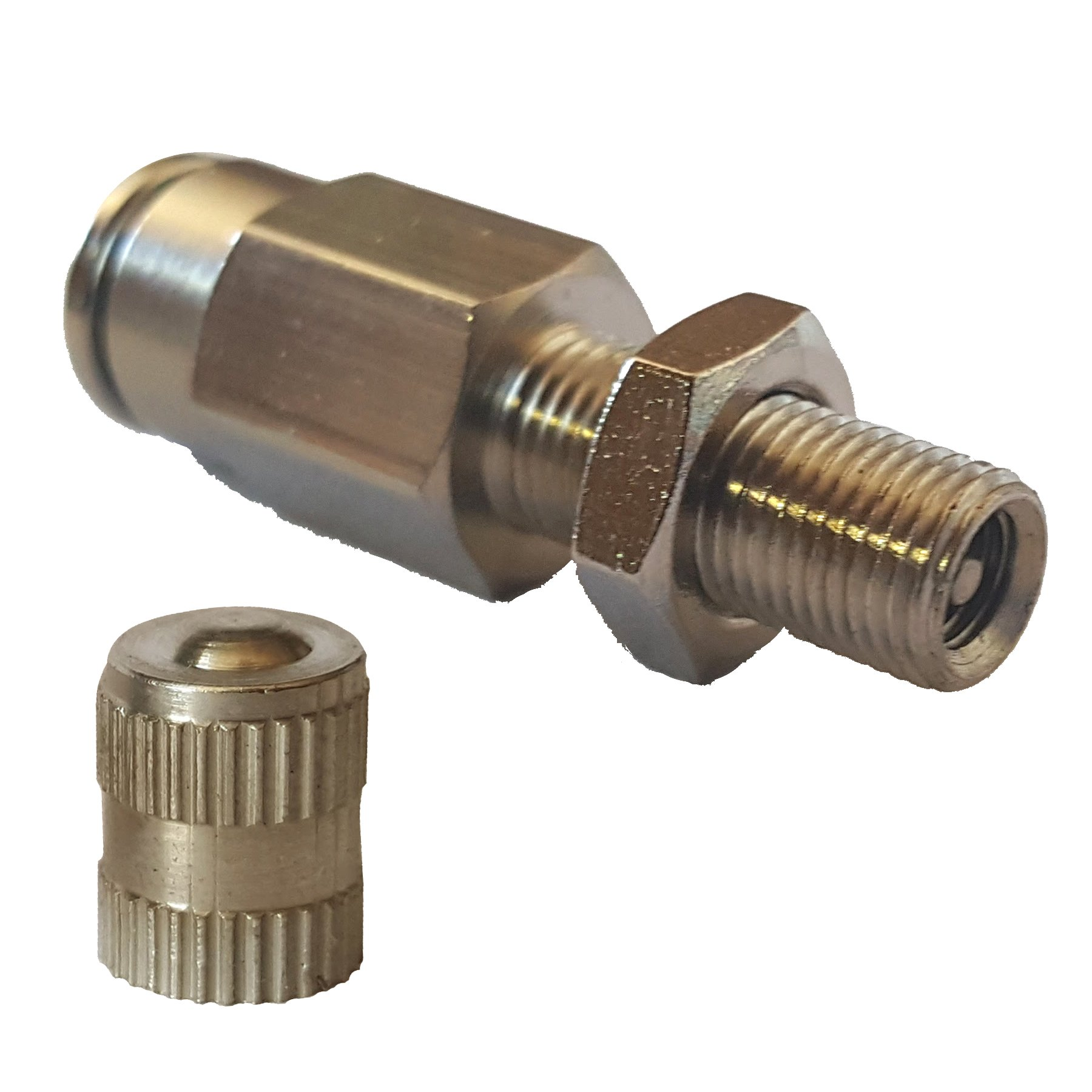 airmaxxx 1/4'' Schrader Inflation Valve Fill Air Ride Suspension Push to Connect