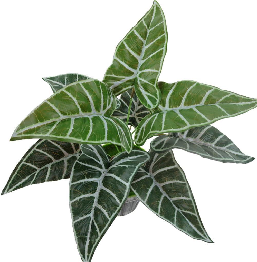 Artificial Fake Plastic Leaves Plants Home Office Garden Decor Simulation Plant