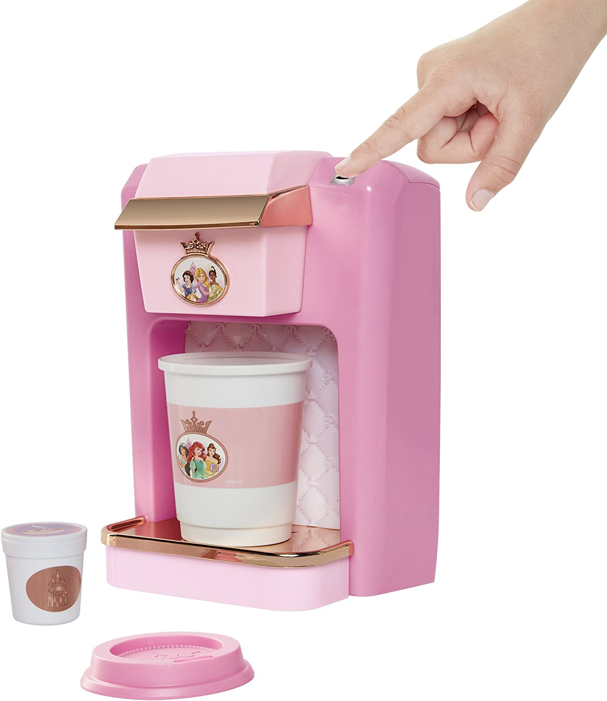 Amazon Com Disney Princess Style Collection Play Gourmet Coffee Maker 4 Piece Set Toys Games