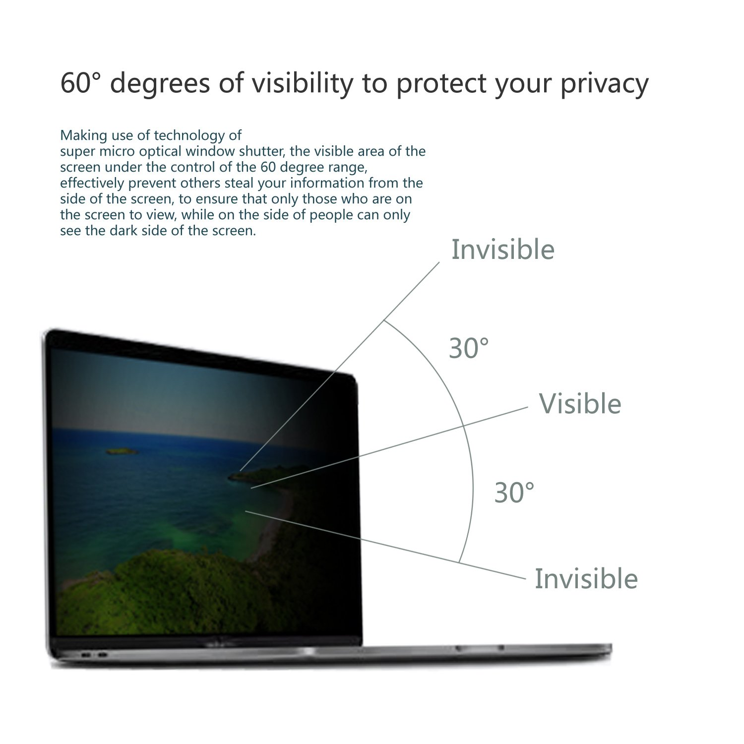 Privacy Screen for 13 Inch Macbook Pro Privacy Screen 2017/2016 with Retina Display (Model: A1706 and A1708) by Long Sheng (Image #4)