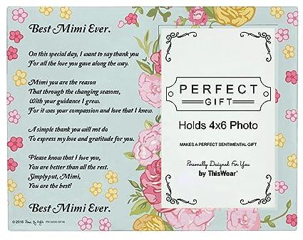 Amazon.com - Mimi Picture Frame Best Mimi Ever Mimi Poem Glass ...