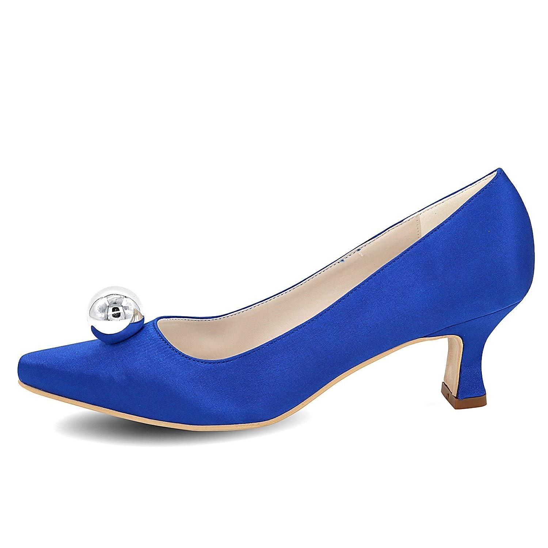 Elobaby Mujeres Zapatos Plataforma Las De Boda Estrecha Punta fxfIr8qd