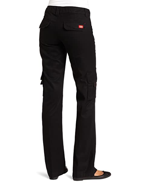 3a392c6e91f50 Dickies Women s Relaxed Fit Straight Leg Cargo Pant Fade   Wrinkle  Resistant at Amazon Women s Clothing store