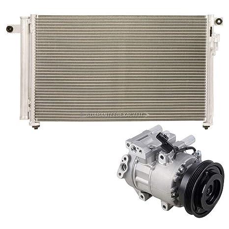 Marca nueva AC Compresor + a/c condensador y secador para Kia Rio & Rio5