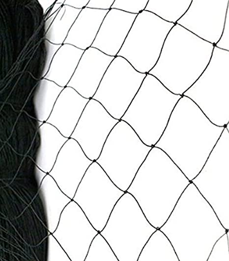 Black Commercial Knitted Anti Bird Netting 5 Metre Wide x  50 Metres Long