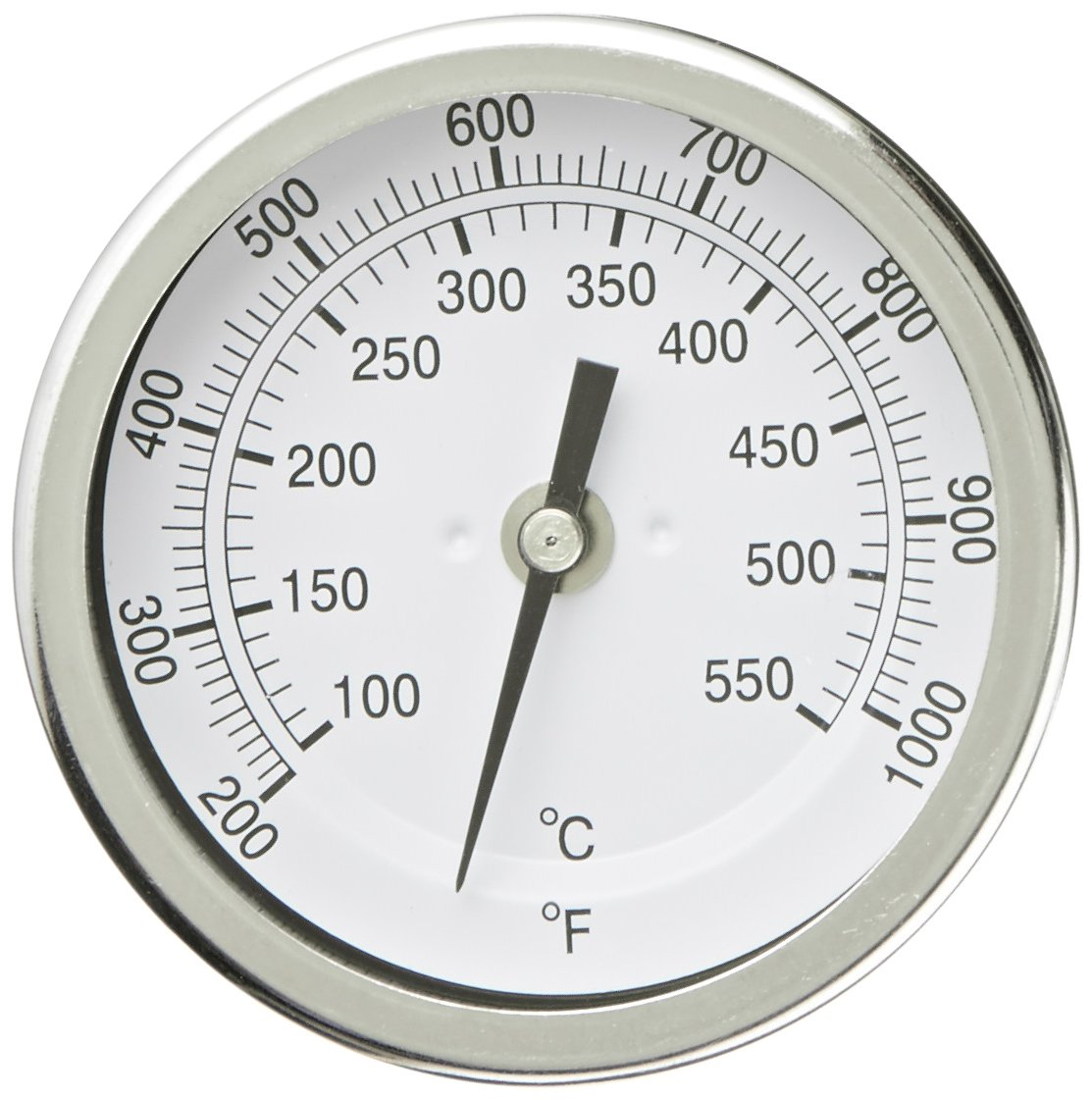 PIC Gauge B3B6-TT 3'' Dial Size, 200/1000°F and 93/538°C, 6'' Stem Length, Back Angle Connection, Stainless Steel Case, 316 Stainless Steel Stem Bimetal Thermometer by PIC Gauges
