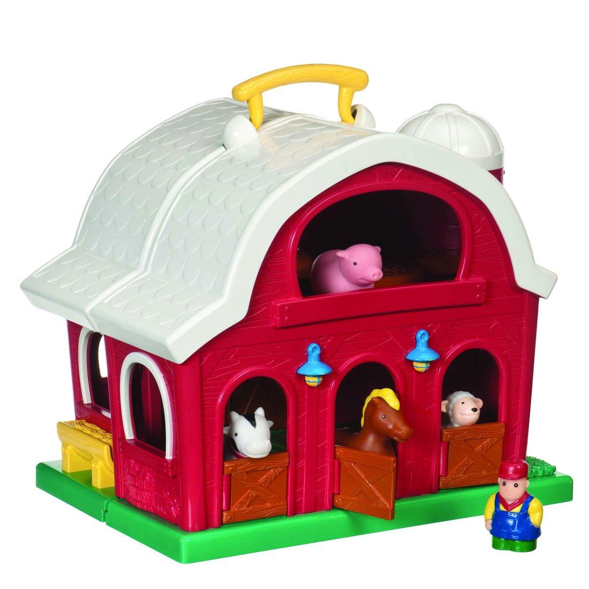 Battat Farm House The play set includes a farmer and four 4 cute farm animals to play with.