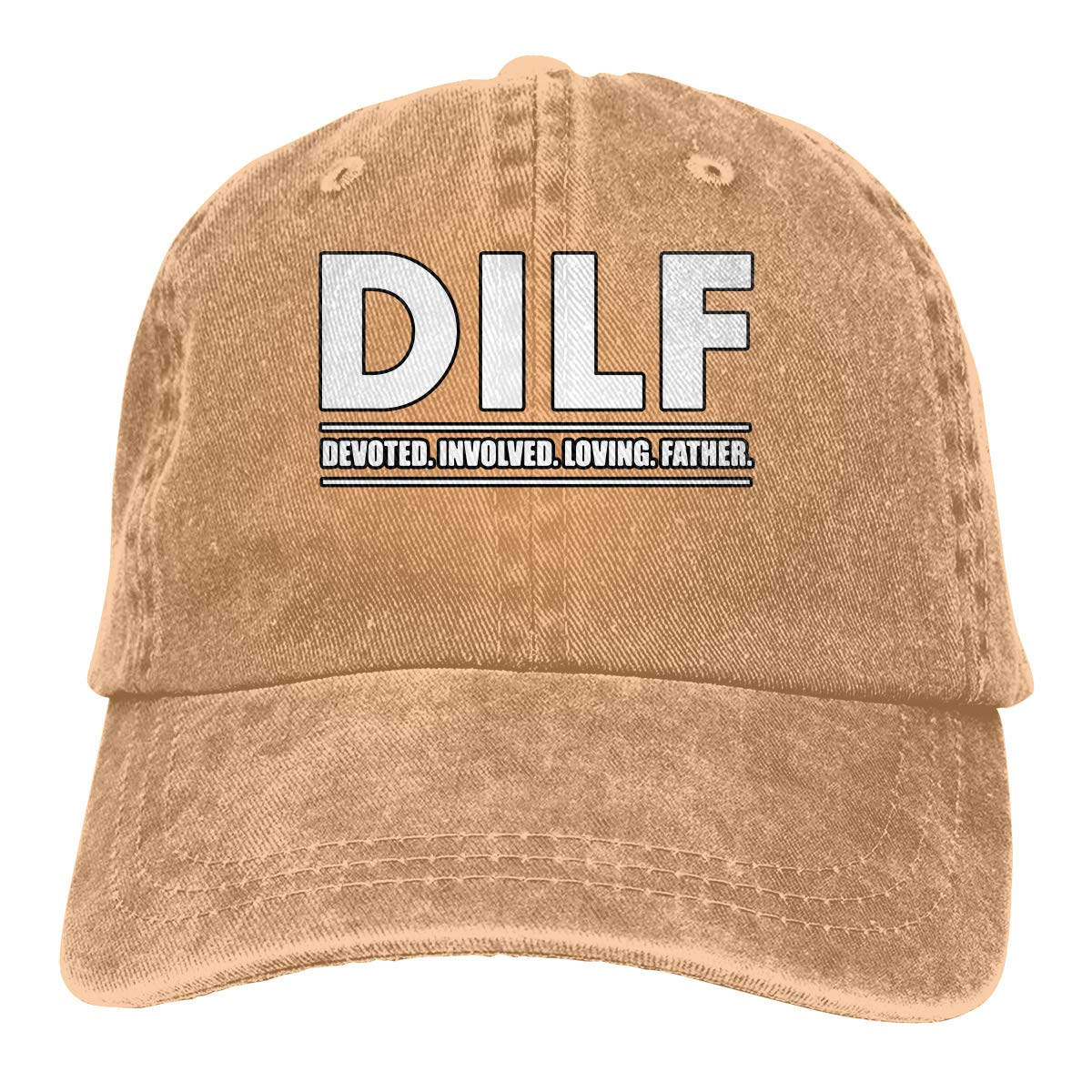Men Women DILF Devoted Involved Loving Father Vintage Washed Dad Hat Cool Adjustable Baseball Cap