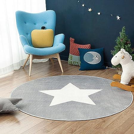 Amazon De Gwell Sterne Fussmatten Runde Teppich Kinderzimmer Weich