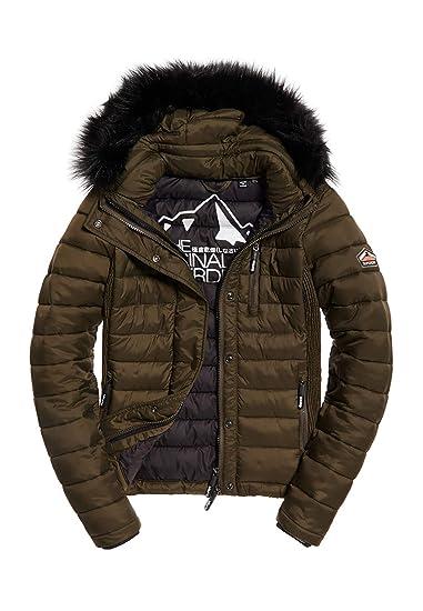 Superdry Winterjacke für Damen Gr. M Schwarz