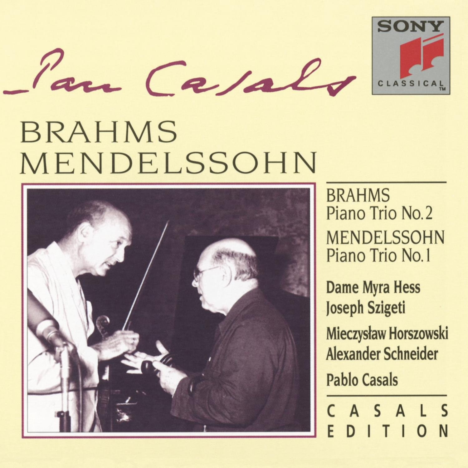 Brahms: Piano Trio No. 2, Op. 87 / Mendelssohn: Piano Trio No. 1, Op. 49